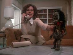 Karen Black and that creepy doll in the movie Trilogy Of Terror (yeeyeeyee yeeyee...)