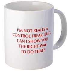 CONTROL-FREAK-OPT-RED Mugs on CafePress.com