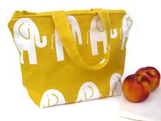 Elephant Insulated Lunch Bag or Customize your Own by LilTotWonder, $28.00