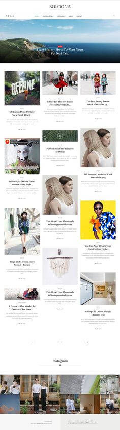 Bologna is creative #WordPress Theme for modern #bloggers and #magazine website with 16 homepage style. Download Now!
