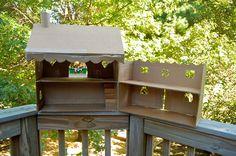 ikatbag: Swing-open Cardboard Dollhouse