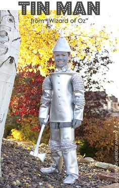 DIY Tin Man Costume (...from Wizard of Oz)   via Make It and Love It