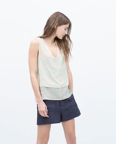 Image 2 of DOUBLE STRIPED TOP from Zara