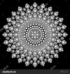 aboriginal dot painting black and white - Google Search More