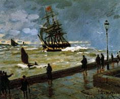 "Claude Monet. ""the jetty of le havre in bad weather."" 1867"