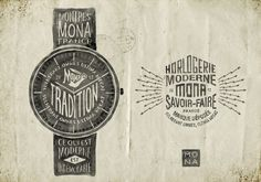 Montres MONA by BMD Design , via Behance.
