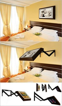 "Movable TV Wall Mount from ""Amazing Interior Design"""