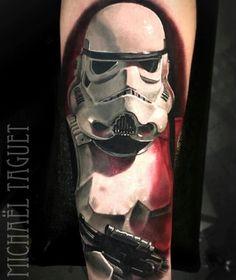 Stormtrooper tattoo by Michael Taguet