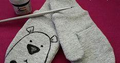 Jak uszyć rękawiczki dla dziecka, wykrój na rękawiczki Snoopy, Character, Lettering