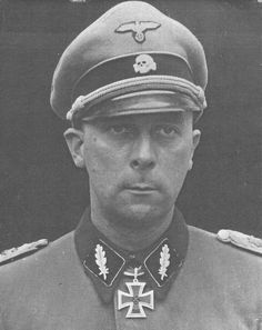 "SS-Brigadeführer and Generalmajor der Waffen-SS Wilhelm Mohnke. One of the original 120 SS members who formed the SS-Staffguard in 1933. Monke was the last defender of Hitler's chancellery at the head of the ""Monke Battle Group."" He survived Russian captivity and died in Germany in 2001 at the age of 90."