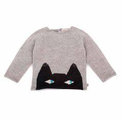 """Oeuf NYC Sweater aus Babyalpaka """"Katze"""""""