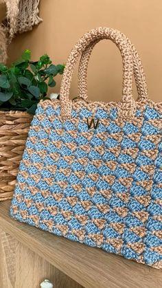Crochet Purse Patterns, Crochet Handbags, Crochet Purses, Knit Or Crochet, Crochet Stitches, Knitting Patterns, Crochet Flower Tutorial, Crochet Instructions, Knitted Bags
