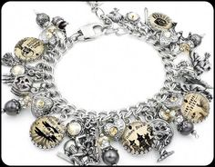 Pandora Original Bracelet With Charms Sterling Silver & Solid Gold Save 50-70% Jewelry & Watches