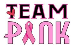 Team Pink for a Cure Temporary Tattoo Pack - 6 Breast Cancer Awareness Tattoos Per Pack