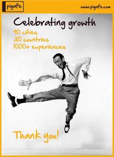 Celebrating growth - Pigafe.com - Travel your way