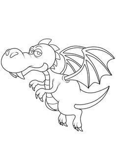 Los geht der Drachen-Spaß! Drucken Sie für Ihr Kind den fliegenden Drachen zum Ausmalen aus und reichen Ihrem Kind seine Buntstifte.