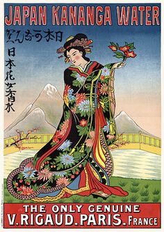 Japan Kananga Water Vintage French Posters & Prints