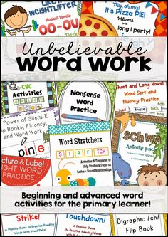 Wonderful Word Work! $