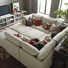 Beckham Pit Sectional by Bassett Furniture. I would love to have this couch in my living room ! Pit Couch, Home, Living Room Furniture, Ikea Living Room, Bassett Furniture, New Homes, Furniture, Pit Sectional, Home Living Room