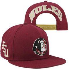 47d168859c63b Nike Florida State Seminoles (FSU) Players True Snapback Hat - Garnet -   29.95 Florida