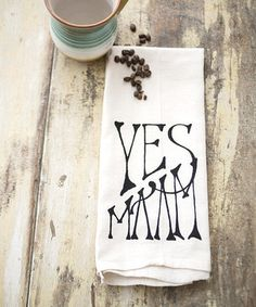 Another great find on #zulily! 'Yes Ma'am' Organic Towel by IScreenYouScreen #zulilyfinds