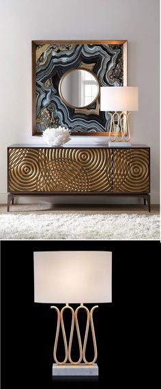 Maybe a beautiful table lamp is what you need to improve the decoration of the room! Get inspired by this idea. Tall Floor Lamps, Unique Floor Lamps, Contemporary Floor Lamps, Black Floor Lamp, Modern Lamps, Art Deco Hotel, Lamp Inspiration, Living Room Decor Colors, Entry Tables