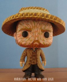 Vincent van Gogh Starry Night Doctor Who Custom Funko por boopstoof