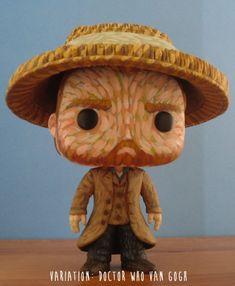 Vincent van Gogh custom Funko Pop Vinyl Figurine with Starry Night jacket or…
