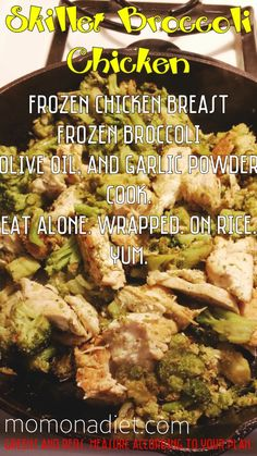 21 Day Fix Broccoli Chicken Skillet.