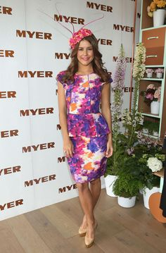 Myer Ambassador Lauren Phillips wearing NF by Nicola Finetti in the Myer Marquee on Melbourne Cup Day Race Day Fashion, Races Fashion, Star Fashion, Melbourne Cup Fashion, Melbourne Girl, Race Day Outfits, Races Outfit, Modest Fashion, Fashion Dresses