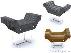 Industrial Felt Furniture by Diego Figueroa, via Behance
