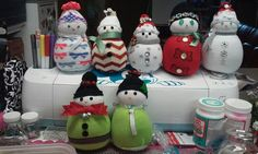 My snowmen...all different. I am selling snowmen for $10.00