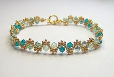 Green swarovski elements bracelet, green and gold jewellery, bicone bracelet, summer jewelry, mothers day gift, BR002