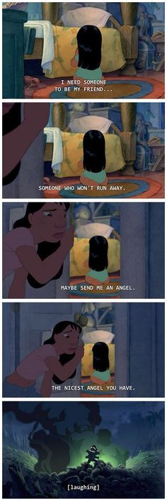 Funny Disney Quotes Hilarious Lilo And Stitch Ideas Disney Pixar, Disney Jokes, Funny Disney Memes, 9gag Funny, Disney Fun, Disney And Dreamworks, Disney Magic, Funny Memes, Funny Quotes