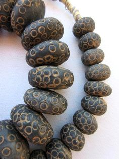 African Trade Beads - Old African Clay Beads Ceramic Jewelry, Ceramic Beads, Polymer Clay Beads, Lampwork Beads, Stone Beads, Glass Beads, Stones, Ethnic Jewelry, Jewelry Art