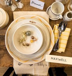 Max from @Design * Sponge created this playful brunch setting using both vintage and contemporary pieces from our store!