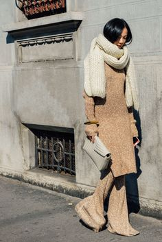 March 1, 2015  Tags Céline, Yoyo Cao, Knitwear, Bracelets, Oversized, Clutches, Monochromatic, Scarves, Neutrals, Sweaters, Women, Milan