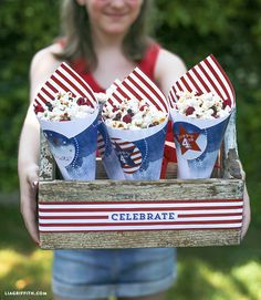 Michaels Makers Lia Griffith | Red, White and Blue Kettle Corn