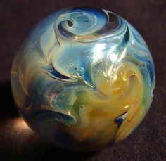 "kc boro glass marble fumed antenna mist twist 1 1/8"" #Glass"