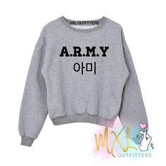 Our super soft, relaxed fit crew neck sweatshirts are the perfect thing to add to your wardrobe!Sweatshirt sizes are in adult unisex sizes.Washing and Care instructions: Bts Hoodie, Bts Shirt, Crew Neck Sweatshirt, Kpop Outfits, Cute Outfits, Fashion Outfits, Exo Shop, Bts Clothing, Bts Inspired Outfits