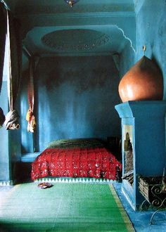 colorful #bohemian bedroom