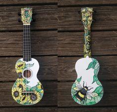 Concert Ukulele choose your design by CedarAndSycamore on Etsy