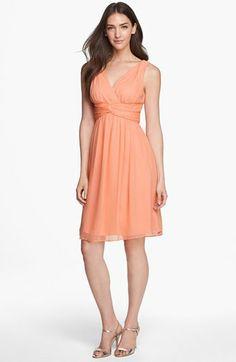 Donna Morgan 'Jessie' Twist Silk Chiffon Dress (Regular & Plus) | Nordstrom