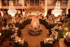 Decoração clássica verde e branca - Casamento Roberta e Odilon