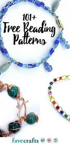 101+ Free Beading Patterns | From free beaded bracelet patterns to DIY home decor ideas made from beads, these bead craft ideas and jewelry patterns are worth looking at!