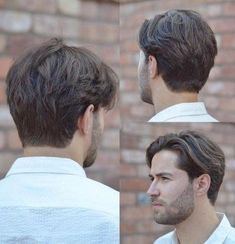 Over 37 trendy haircuts for men with medium length beards: # beards # length Medium Length Hair Men, Medium Hair Cuts, Medium Hair Styles, Short Hair Styles, Trendy Mens Haircuts, Cool Hairstyles For Men, Hairstyles Haircuts, Classic Mens Hairstyles, Hair And Beard Styles