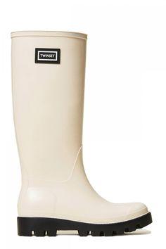 Twin Set Damen Regenstiefel Natur Weiss | SAILERstyle Twin Set, Trends, Elegant, Hunter Boots, Rubber Rain Boots, Shoes, Fashion, Bags, Nature