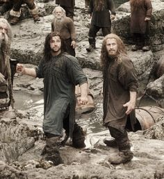 Kili and Fili ~ just realized that their undershirts are the same.