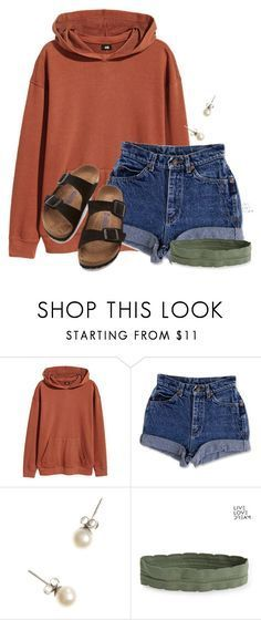 """""""Study Hall fun"""" by flroasburn ❤️ liked on Polyvore featuring H&M, J.Crew, Aé️️ropostale and Birkenstock"""