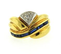 18k Gold Sapphire Diamond Ring Featured in our upcoming auction on August 18!